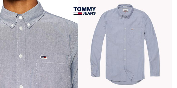 Camisa Oxford Tommy Classics para hombre chollo en Amazon