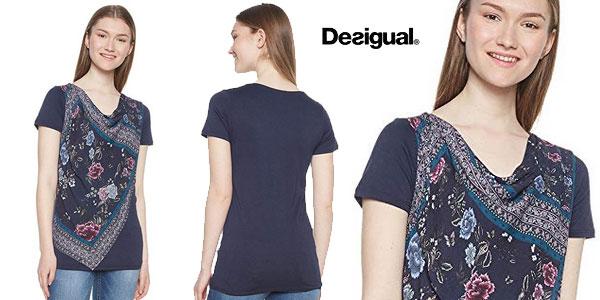 Camiseta Desigual Vicent para mujer chollazo en Amazon