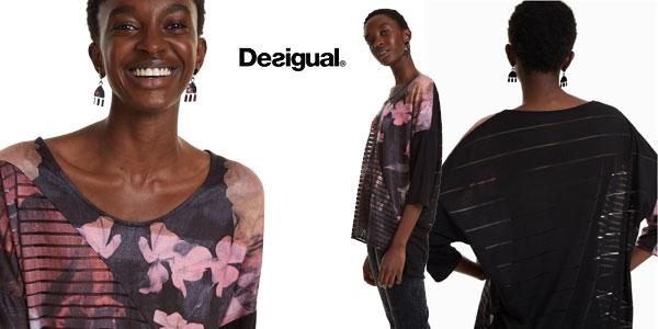 Camiseta Desigual Bélgica para mujer chollo en Amazon