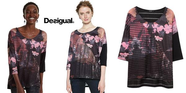 Camiseta Desigual Bélgica para mujer chollazo en Amazon