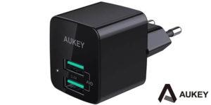 Cargador USB AUKEY PA-U32 de 2,4A con 2 puertos