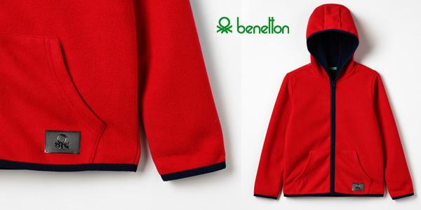 Chaqueta polar United Colors of Benetton Jacket W/Hood para niños barata en Amazon