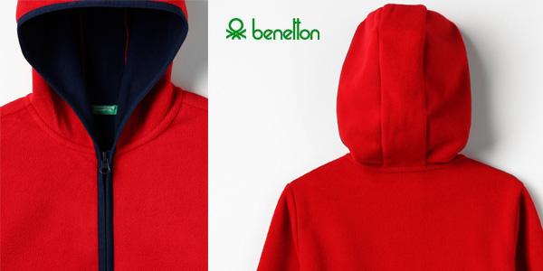 Chaqueta polar United Colors of Benetton Jacket W/Hood para niños chollo en Amazon