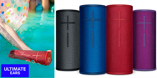 Chollo Altavoz inalámbrico Ultimate Ears Boom 3 con Bluetooth resistente al agua