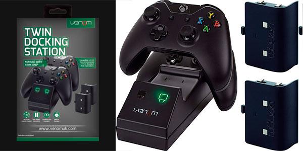 Chollo Dock doble de carga Venom Twin Docking Station para mandos de Xbox One con 2 baterías