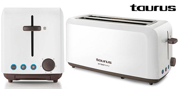Chollo Tostadora Taurus Mytoast Duplo de doble ranura y 1.450 W
