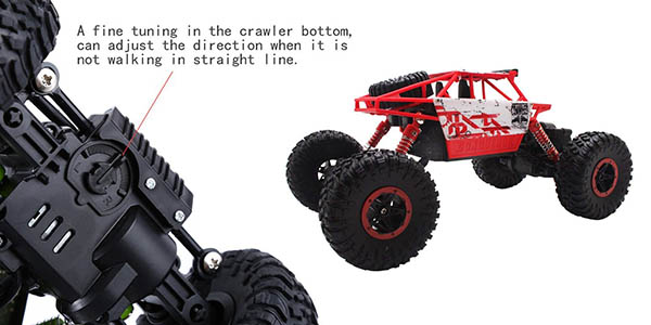 coche Rock Crawler con control remoto y relación calidad-precio genial