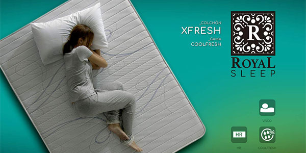 Colchón viscoelástico Xfresh Royal Sleep barato en Amazon