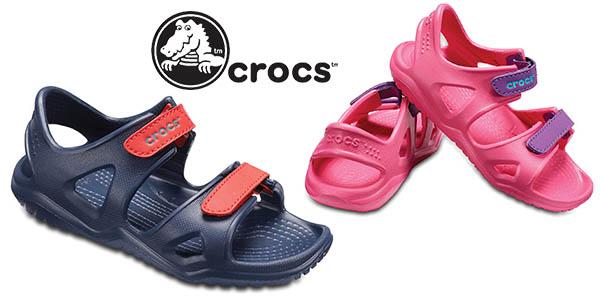 Crocs Swiftwater River Sandal Kids sandalias para niñ@s chollo
