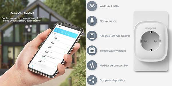 Enchufe inteligente Koogeek Wi-Fi Smart Plug con cupón descuento