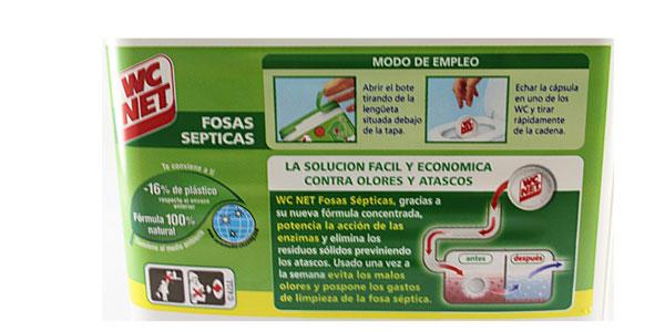 Envase 20 cápsulas Wc Net Fosas Septicas chollo en Amazon