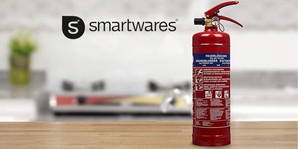 Extintor Smartwares 2kg de polvo seco ABC con soporte chollazo en Amazon