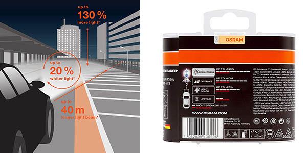 faro Osram 64210NBL-HCB Night Breaker Laser H7 chollo