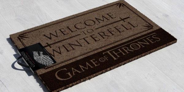 Felpudo Juego de Tronos Winterfell chollo en Amazon