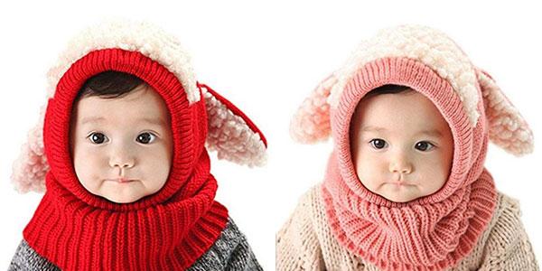 Gorro bufanda para bebé Zzlay Lovely Baby Winter Hat chollazo en Amazon
