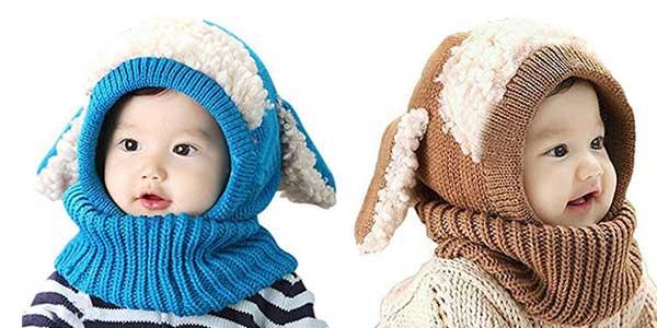 Gorro bufanda para bebé Zzlay Lovely Baby Winter Hat barato en Amazon