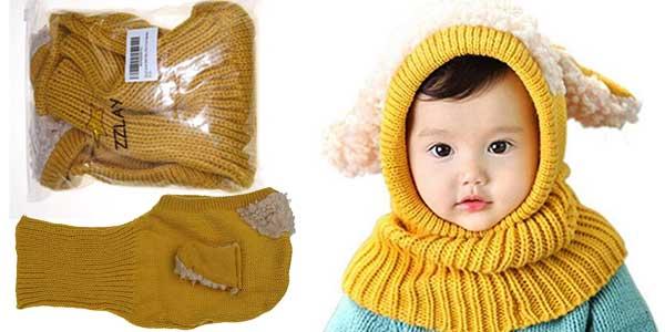 Gorro bufanda para bebé Zzlay Lovely Baby Winter Hat chollo en Amazon
