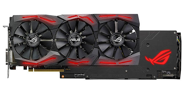Asus ROG Strix Radeon RX 580 OC Edition de 8GB GDDR5 en Amazon
