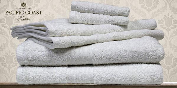 Set de 6 toallas de baño Pacific Coast Textiles 100% algodón chollo en Amazon