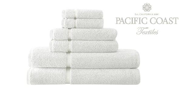 Set de 6 toallas de baño Pacific Coast Textiles 100% algodón barato en Amazon