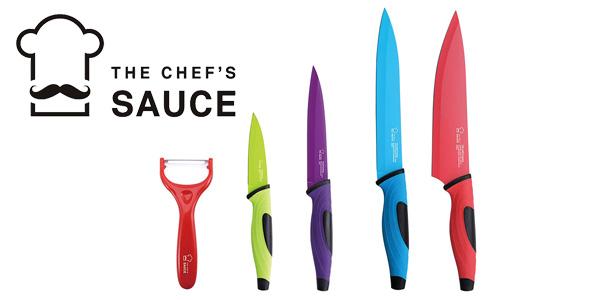 Juego de cuchillos de 5 piezas The Chef's Sauce barato en Amazon