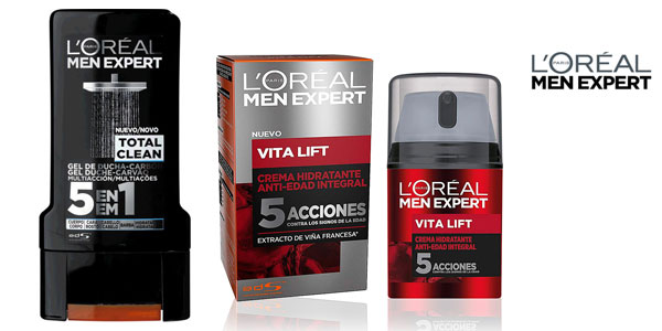 Kit Gentleman L'Oréal Men Expert Crema antiedad + Gel ducha + Toalla para hombre chollo en Amazon