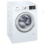 Lavadora de carga frontal Siemens WM12T498ES iQdrive de 9 Kg y 1.200 rpm barata en El Corte Inglés