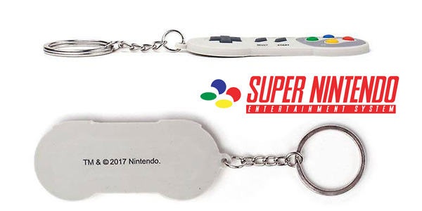 Llavero de goma original Super Nintendo chollo en Amazon