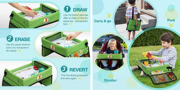 Mesa bandeja para niños Lenbest apta para sillita de coche y viaje chollo en Amazon