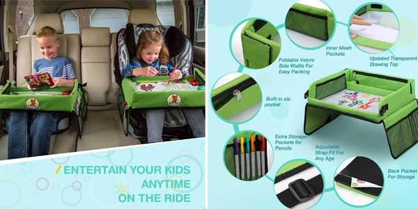 Mesa bandeja para niños Lenbest apta para sillita de coche y viaje chollazo en Amazon