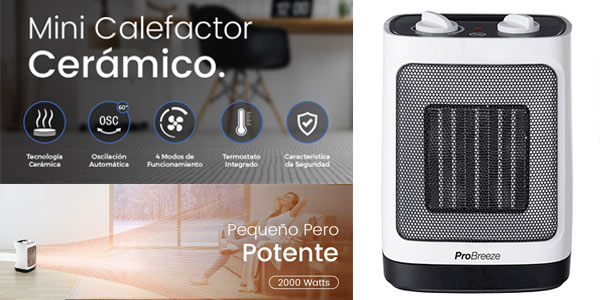 Mini Calefactor cerámico Pro Breeze Mini al mejor precio en Amazon
