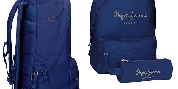 mochila acolchada escolar Pepe Jeans Harlow oferta