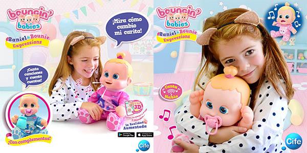 muñeco interactivo Bouncin Babies Real Buddy Expressions Bounie oferta
