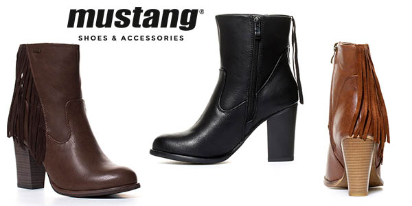Mustang Fuse botines de tacón baratos