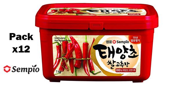 Pack 12 x 1 kg Gochujang Sempio Pasta coreana de guindilla barato en Amazon