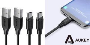 Pack de 2 cables Aukey USB Tipo C a USB A de 1 metro