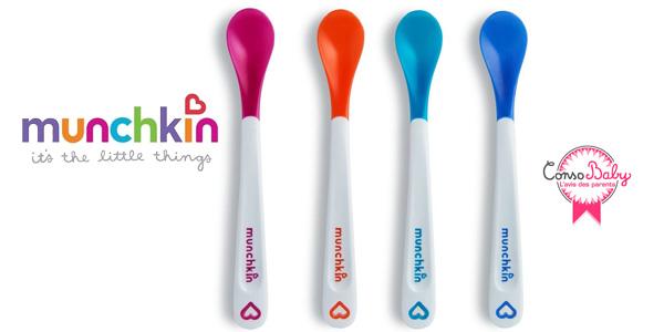 Pack de 4 cucharas Munchkin sensibles al calor para bebés barato en Amazon