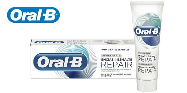 Pack x4 Oral-B Encías & Esmalte Repair Blanqueante de 75 ml/ud chollo en Amazon