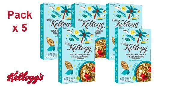 Pack x5 paquetes W. K. Kellogg's Cereales sin Azúcar Añadido Frutos Secos barato en Amazon