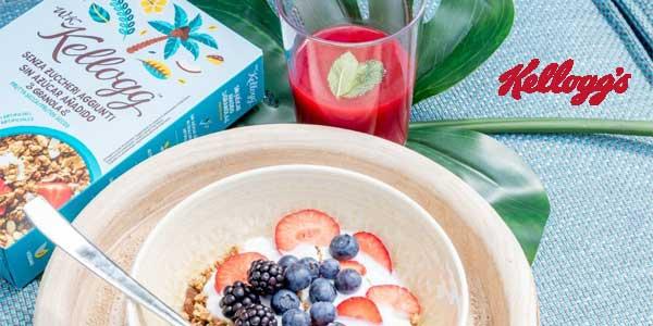 Pack x5 paquetes W. K. Kellogg's Cereales sin Azúcar Añadido Frutos Secos chollo en Amazon