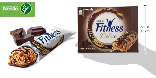 Pack 6 cajas de 6 barritas de Cereales Nestlé Barritas Fitness Delice chocolate negro chollo en Amazon