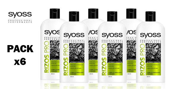 Pack 6 envases Acondicionador Rizos Pro SYOSS de 500 ml barato en Amazon