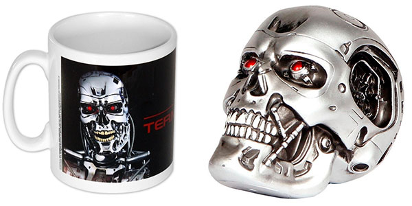 Pack Terminator (camiseta + busto + llavero + taza) barato