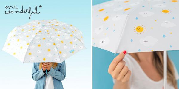 Paraguas mediano Mr. Wonderful con estampado nube barato en Amazon
