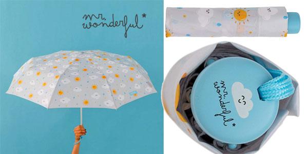 Paraguas mediano Mr. Wonderful con estampado nube chollo en Amazon