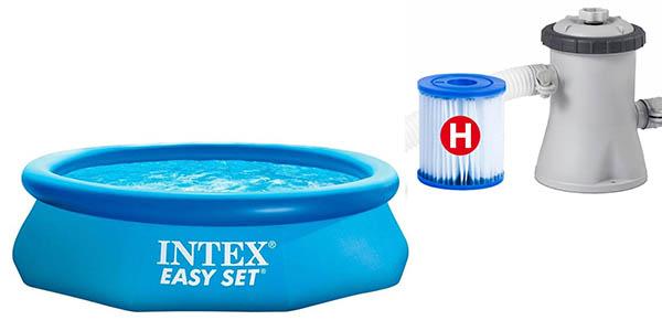 piscina hinchable con depuradora Intex Easy Set oferta
