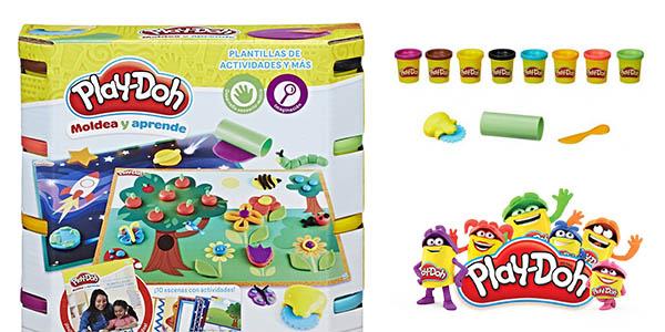 Play-Doh pack actividades con plastilina juego educativo con plantillas chollo