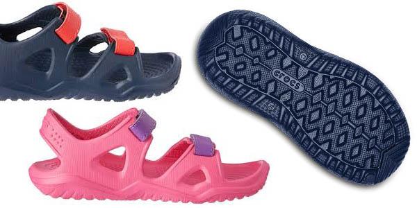 sandalias infantiles con tiras de velcro Crocs Swiftwater River Sandal con relación calidad-precio genial