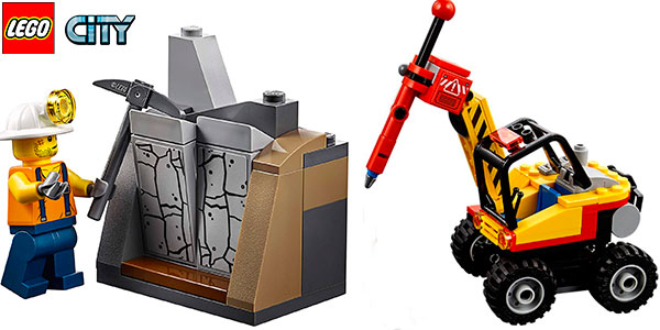 Set Mina: Martillo hidráulico de LEGO City con 2 minifiguras barato