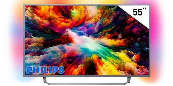 "Smart TV Philips 55PUS7303/12 de 55"" UHD 4K HDR con Ambilight 3"